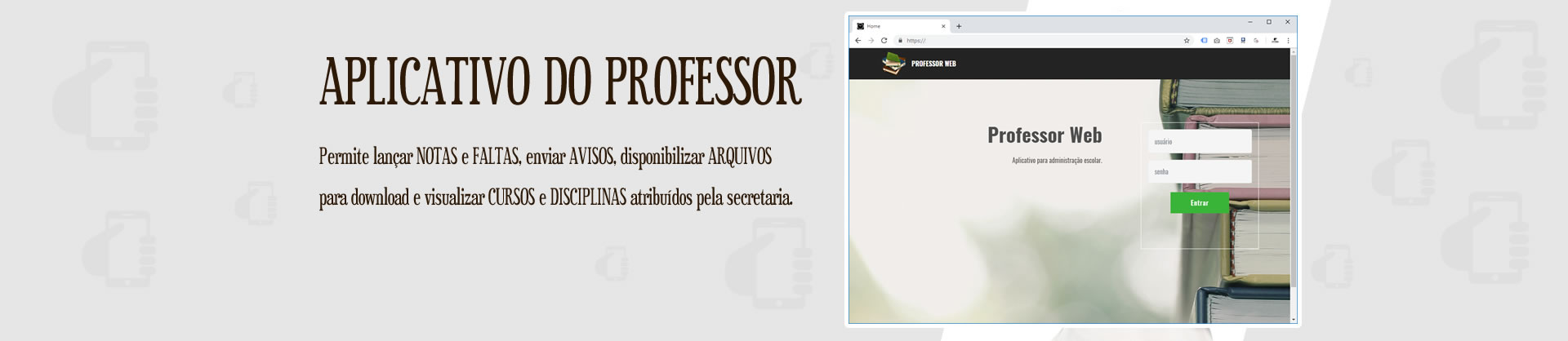 Aplicativo do Professor